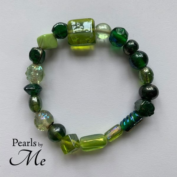 Green Glass - Armbånd Pearls by Me