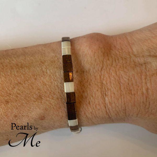 Miyuki Tila armbånd af Pearls by Me